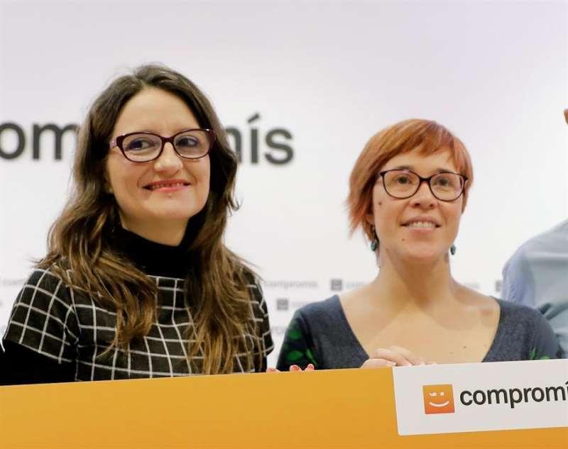 Mónica Oltra y Àgueda Micó, las dos lideresas de Compromís. EPDA