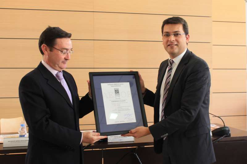 AENOR certifica al ayuntamiento de Alfafar