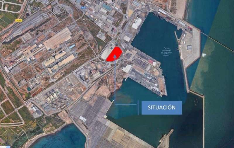 Plano de la ubicación del nuevo CIF. EPDA