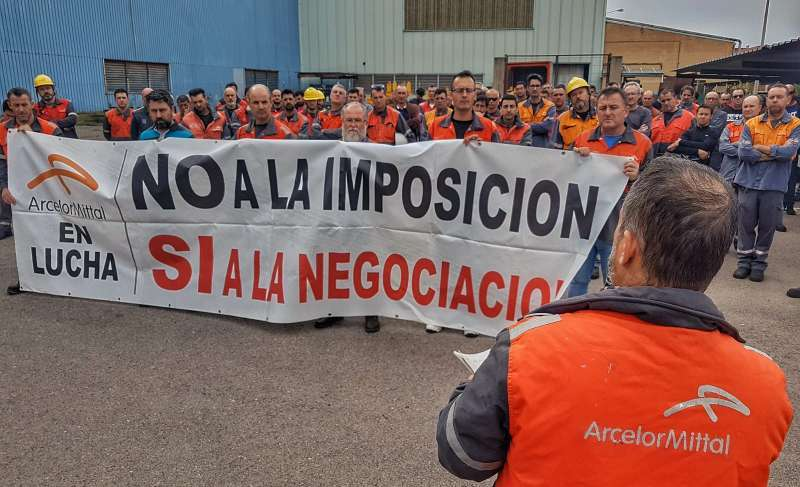 Imágenes de los paros de los trabajadores de Arcelor. EPDA/Archivo