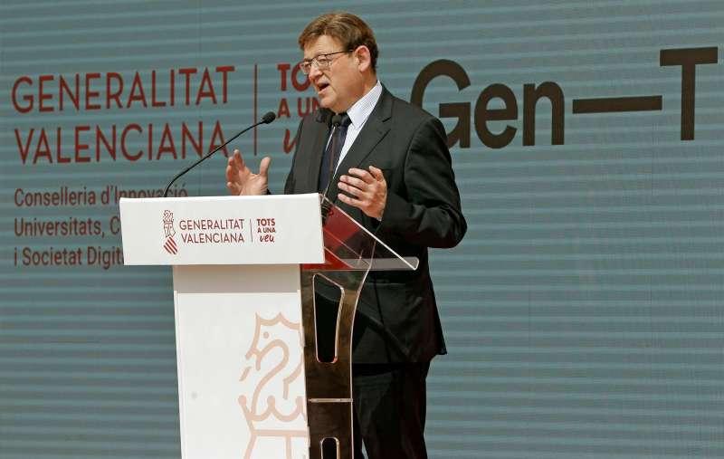 El president de la Generalitat, Ximo Puig, hoy en Alicante.