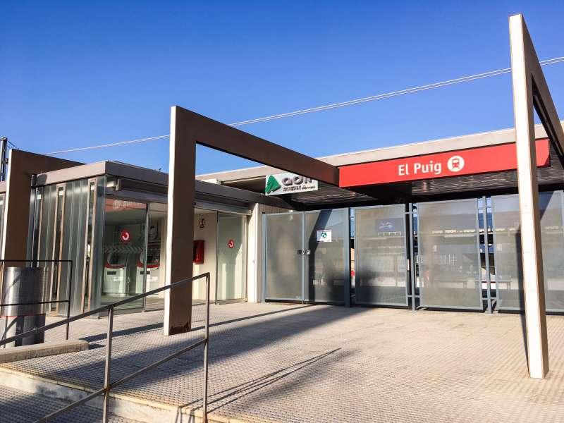 Estación de Renfe de El Puig.