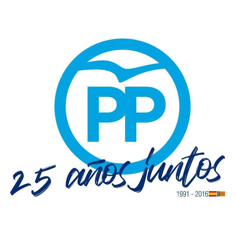 Logo del 25 aniversario del Partido popular. EPDA