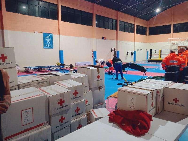 Imagen de los preparativos facilitada por Cruz Roja.EFE