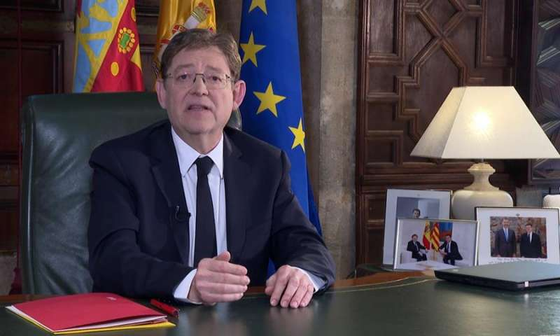Fotografía cedida por la Generalitat del president Ximo Puig . EFE