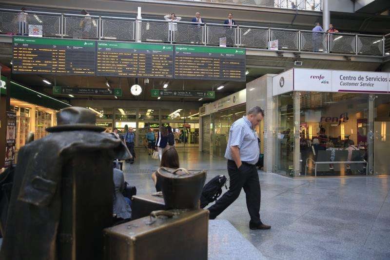 En la imagen, estación de Atocha, en Madrid. EFE/Archivo