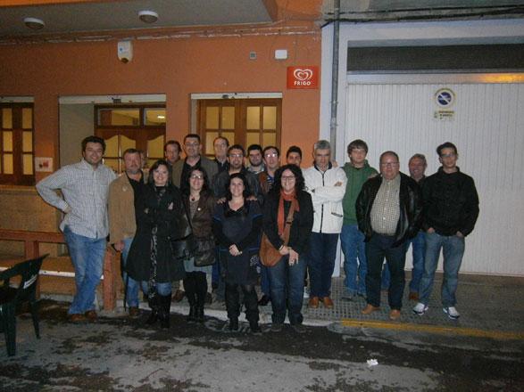 Representants del Bloc amb Enric Morera a Quartell. FOTO BLOC