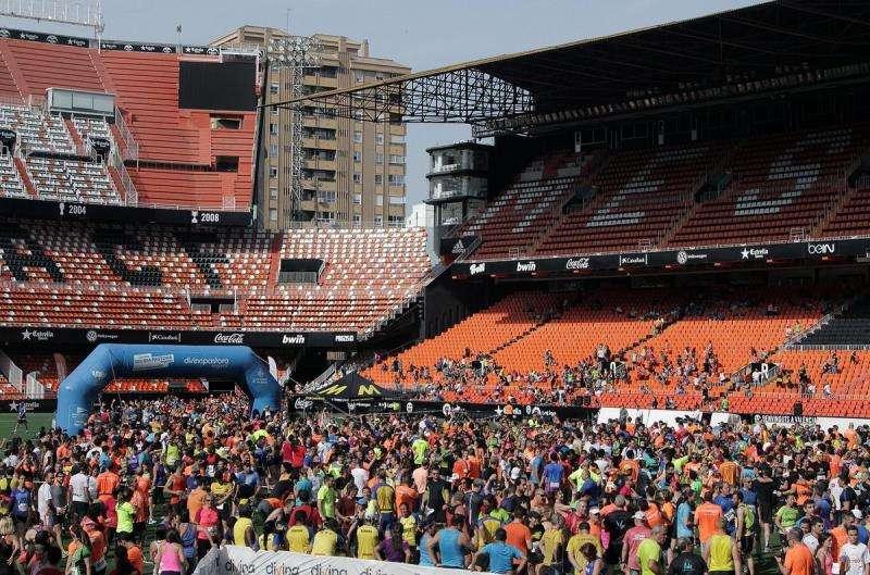 La Volta, en una imagen del Valencia CF de una edición anterior.