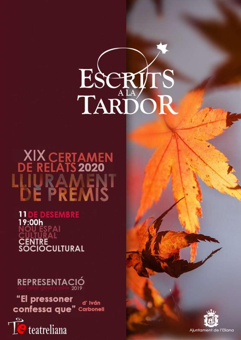 Cartell de la XIX edició dels Escrits a la Tardor. / EPDA