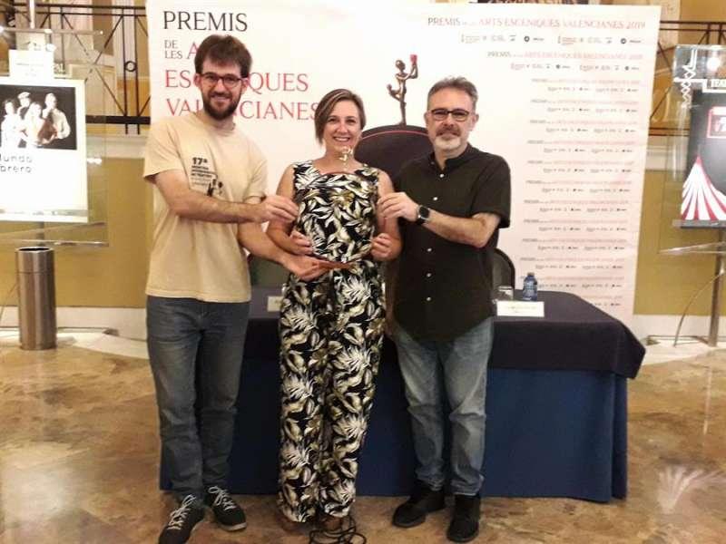 Entrega del premio de honor de las Artes Escénicas Valencianas 2019, que ha recaído en Rodolf Sirera. Imagen facilitada por la Generalitat