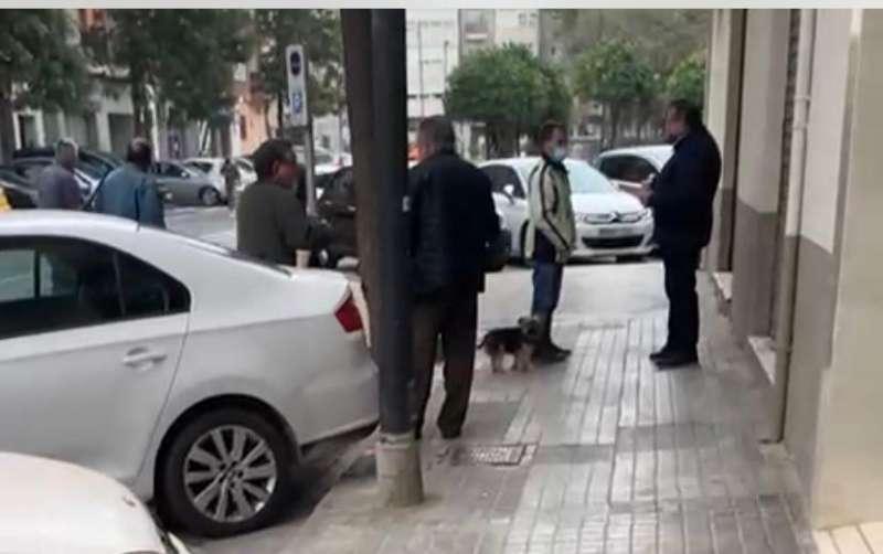 Captura de pantalla del vídeo tomado el jueves. EPDA