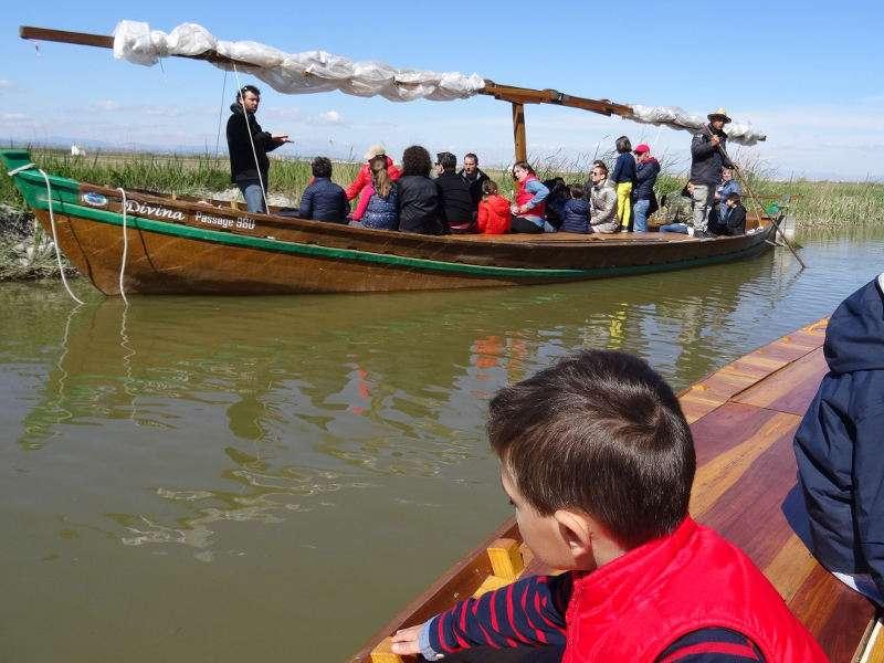 Paseo en barca por la laguna de l