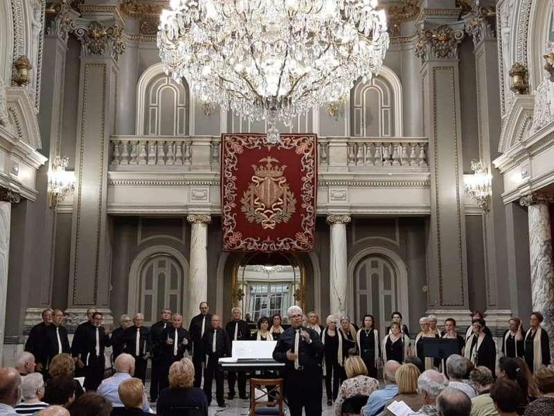 Una actuación del coro. EPDA