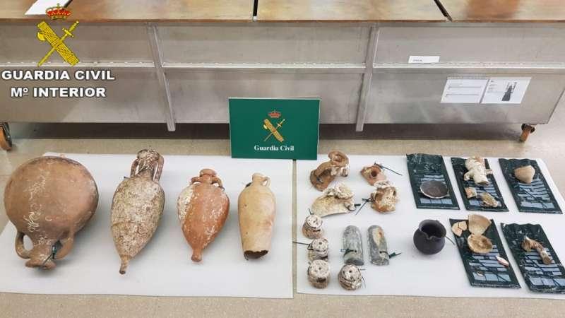 Piezas arqueológicas intervenidas