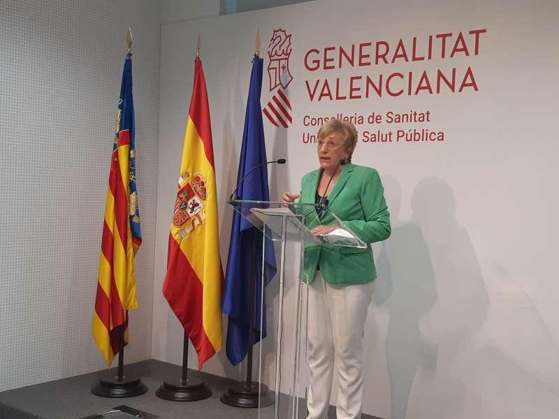La consellera Ana Barceló, durante su comparecencia. EPDA.