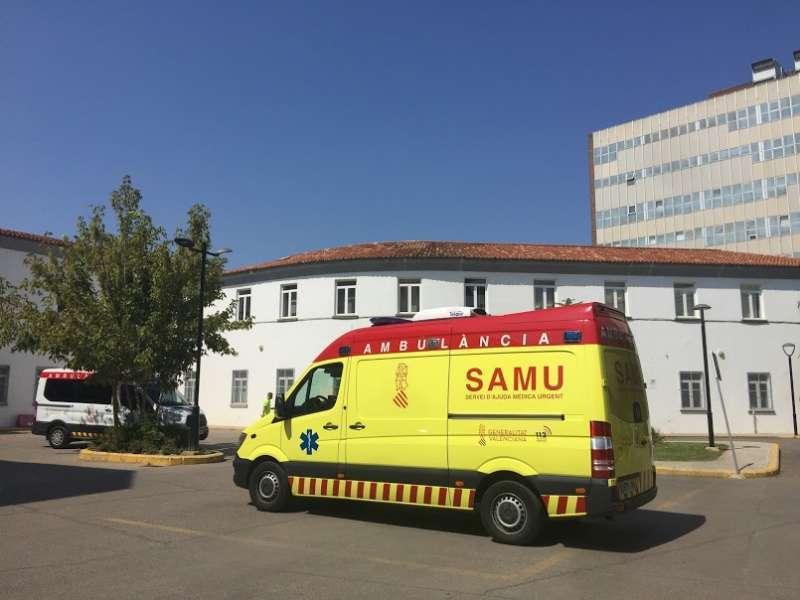 Una unidad del Servicio Atención Médica de Urgencias (SAMU).