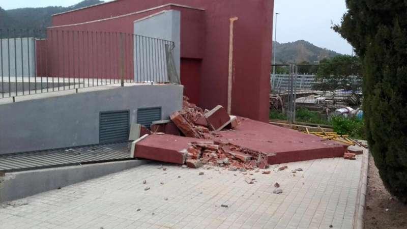 La pared derrumbada del anfiteatro de Benifairó de les Valls. EPDA