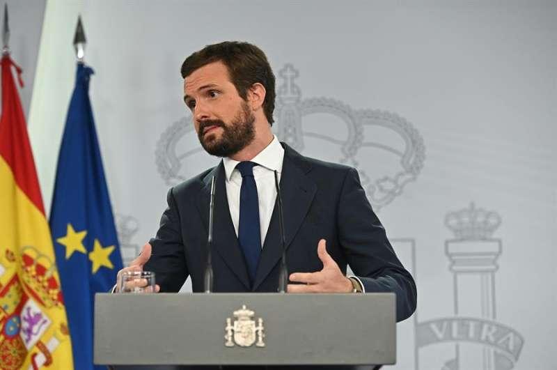 El líder del PP, Pablo Casado. EFE