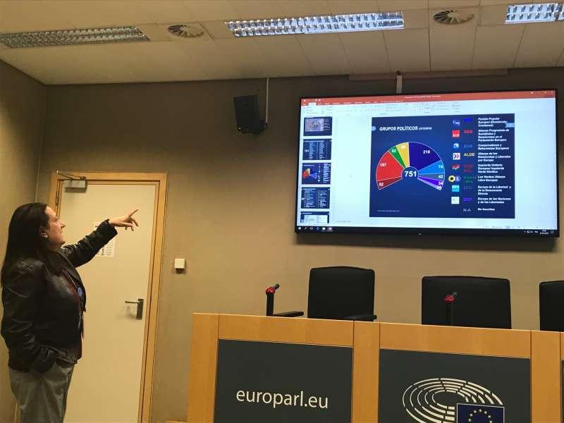 Una funcionaria del Parlamento Europeo el jueves pasado. EPDA