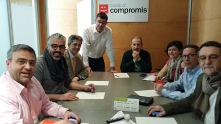 Reunión de integrantes de Compromís. EPDA