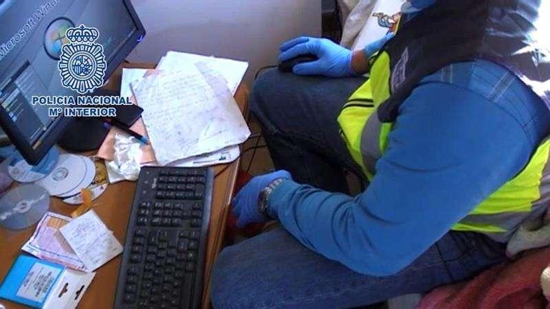 Operación policial contra la estafa. EFE/Archivo