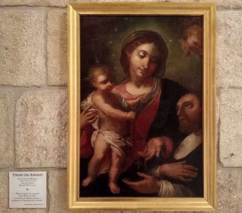 Virgen del Rosario de José Camarón
