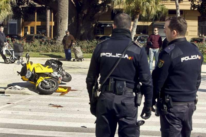 Accidente de tráfico con una motocicleta implicada. EFE/Archiv