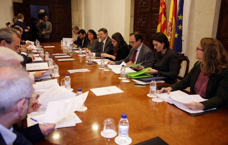 Puig presideix la reunió del patronat de la Fundació Comunitat Valenciana - Regió Europea