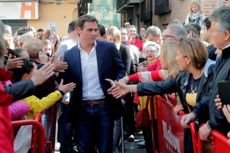 El presidente de Ciudadanos, Albert Rivera, durante una visita a la ciudad de València. EFE/Archivo
