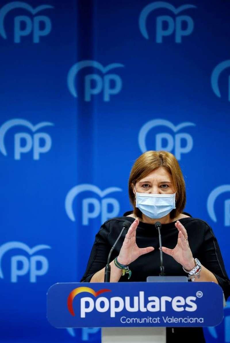 La presidenta del Partido Popular de la Comunitat Valenciana (PPCV), Isabel Bonig. EFE