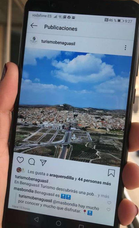 El Instagram de Turismo Benaguasil. / EPDA