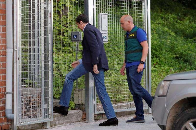 El expresident de la Generalitat y exministro de Trabajo Eduardo Zaplana, en los días de su detención, en mayo de 2018. EFE/Archivo