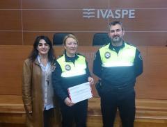 La agente premiada por su trabajo contra la violencia de género