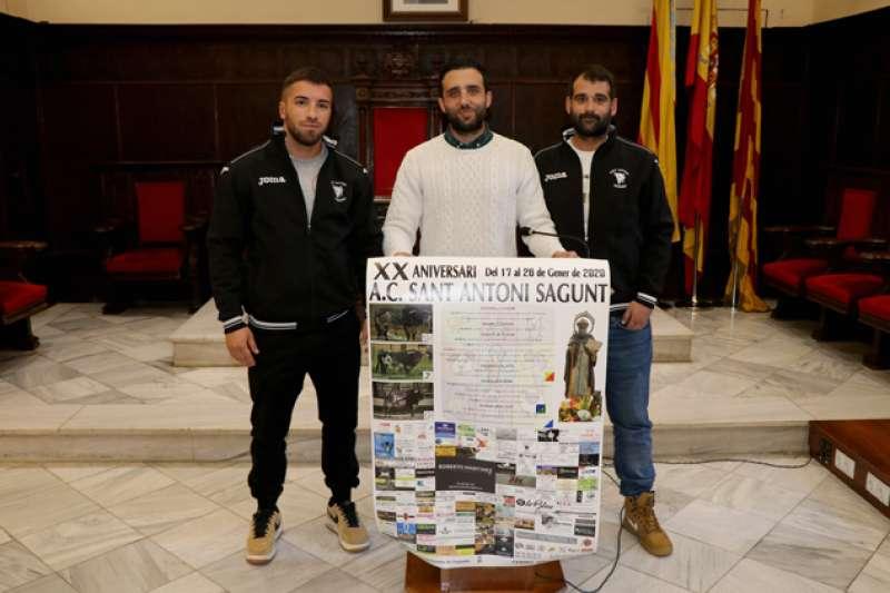Cartel de Sant Antoni 2020 en Sagunt. EPDA