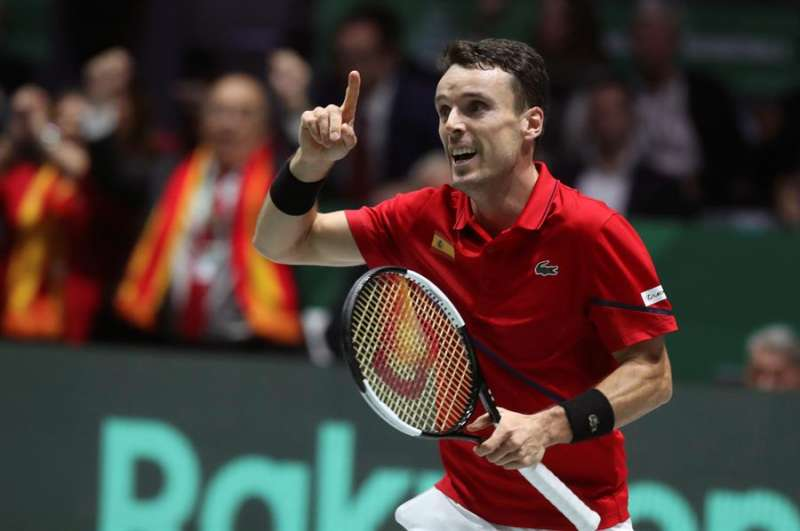 El tenista castellonense Roberto Bautista, durante la pasada Copa Davis. EFE/ Kiko Huesca