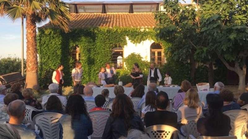 Uno de los actos de la celebración en Almàssera. EPDA
