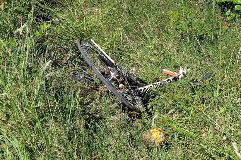 Imagen de archivo de una bicicleta tras un accidente. EFE/Archivo