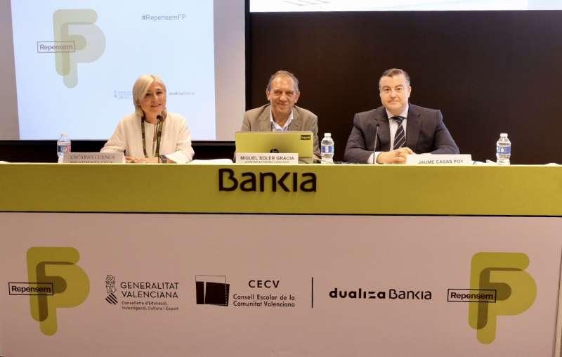 Miguel Soler durante el acto de presentación junto con CEV y Fundación Bankia.