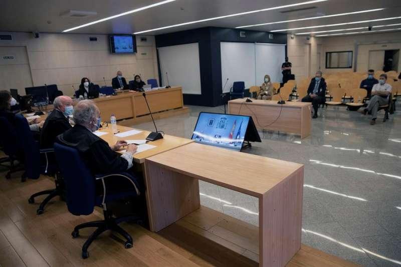 Un momento del juicio en la Audiencia Nacional de la pieza del caso Gürtel relativa a los contratos de actos celebrados por la visita del papa Benedicto XVI a Valencia en 2006. EFE/ Chema Moya