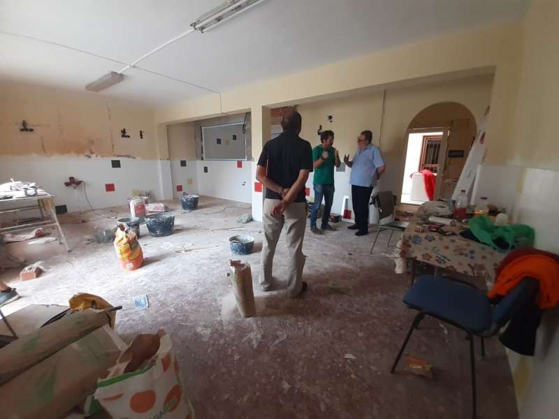 Obras nueva aula del colegio. EPDA