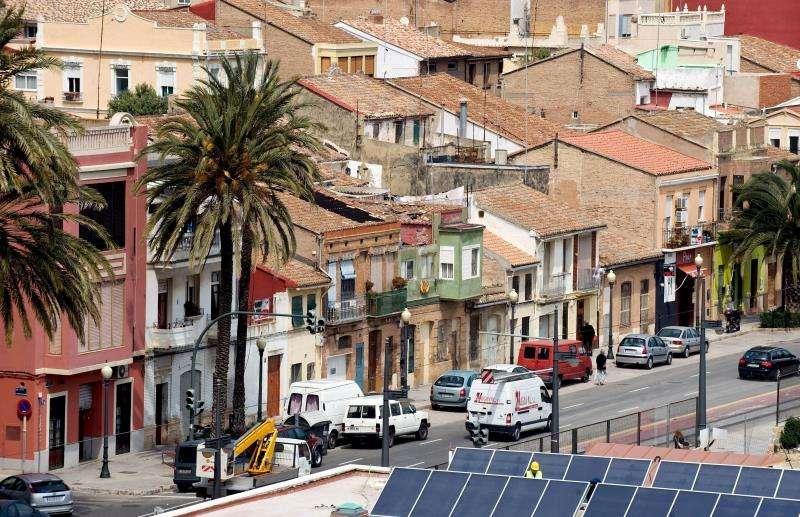 Zona del barrio del Cabanyal. EFE/Archivo
