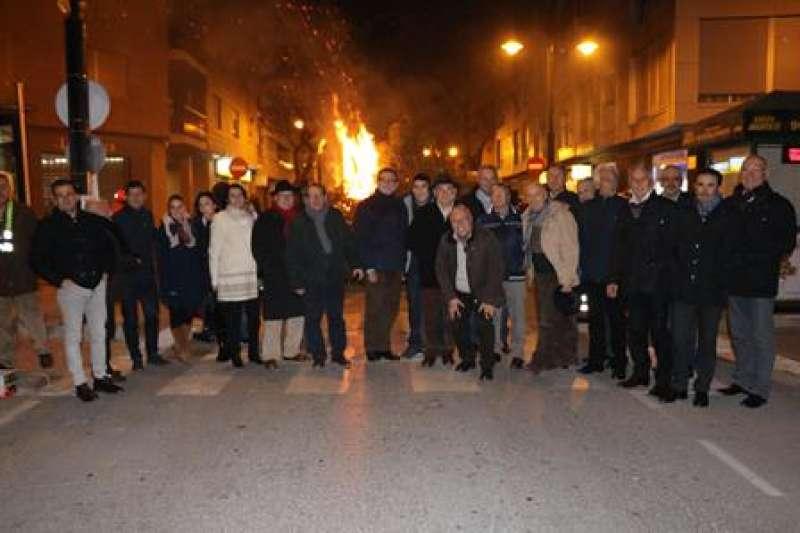 Tradicional hoguera de Sant Antoni. EPDA