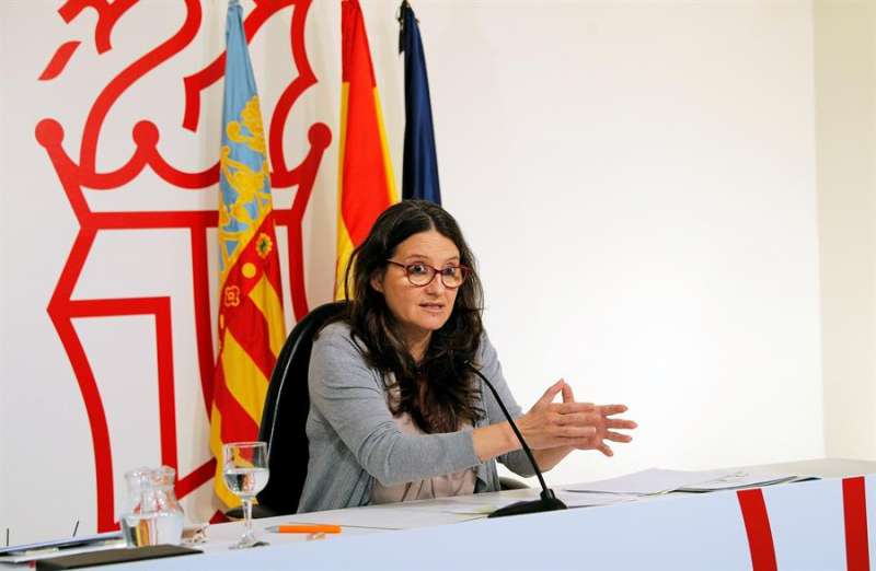 Mónica Oltra, informa de los asuntos tratados en la reunión del Gobierno valenciano. EFE