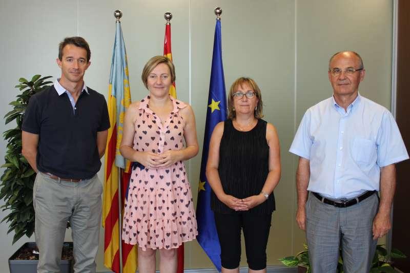 Reunión de la consellera de Vivienda, Obras Públicas y Vertebración de Territorio con el alcalde de Vilafranca y la alcaldesa de Mosqueruela.