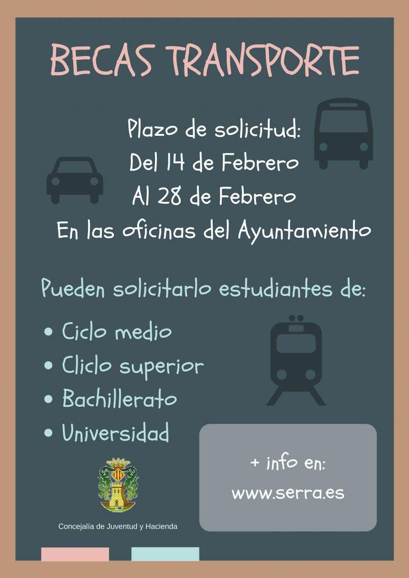 Cartel de la convocatoria de las becas transporte./epda
