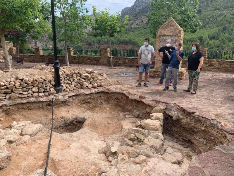 Parte de los restos hallados