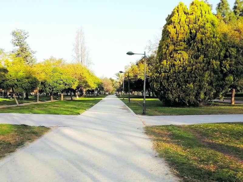 Vista panorámica del jardín del Turia