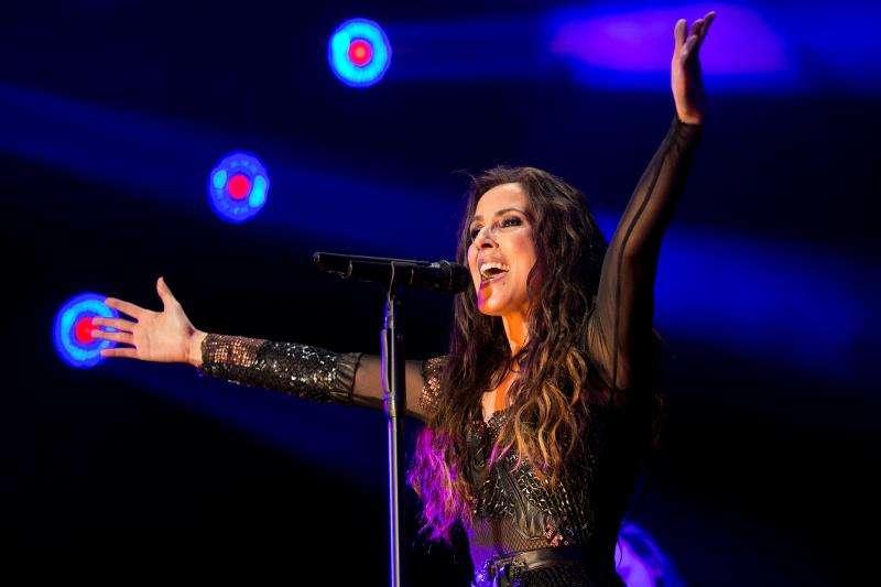 La cantante Malú durante un concierto. EFE/Archivo