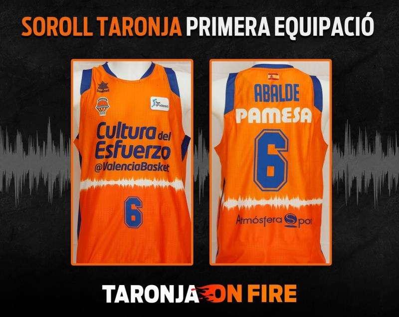 Primera equipación del Valencia Basket para la temporada 2019-2020, en una imagen facilitada por el club valenciano. EFE