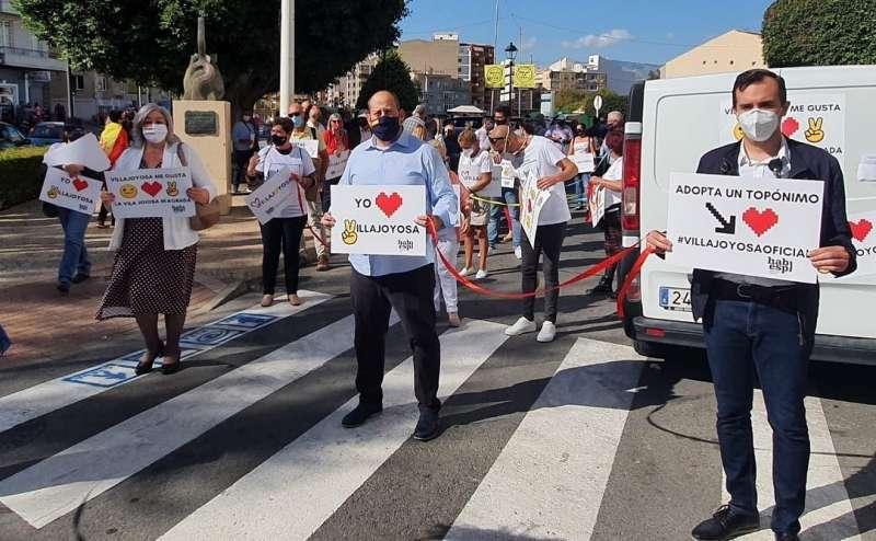 Manifestación en Villajoyosa